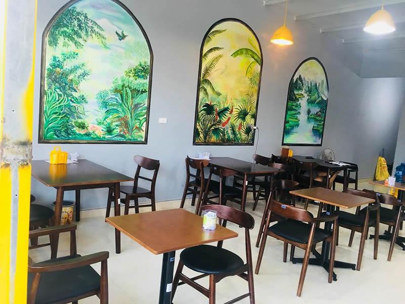 Vẽ tranh tường Nhà hàng Shine Diễn Châu