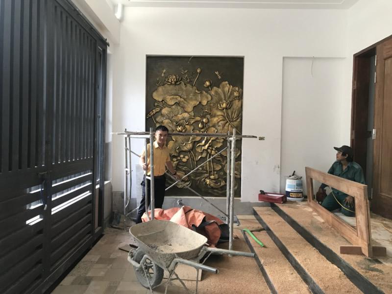Đắp tranh đá và phù điêu TP Vinh Nghệ An