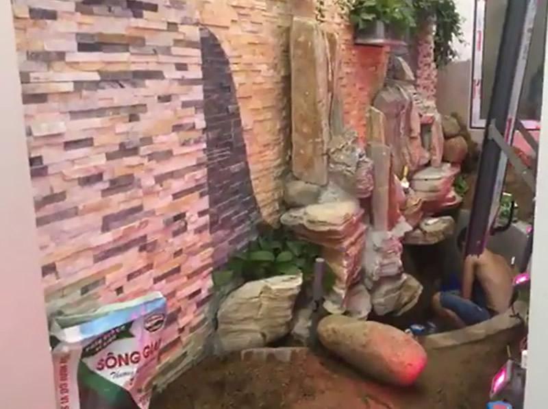 Thi công tranh đá biệt thự Nam Lê Lợi, TP Vinh