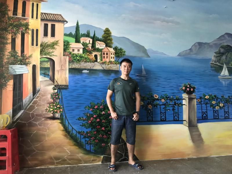 Vẽ tranh tường Quán cà phê Sa Mạc TP Vinh