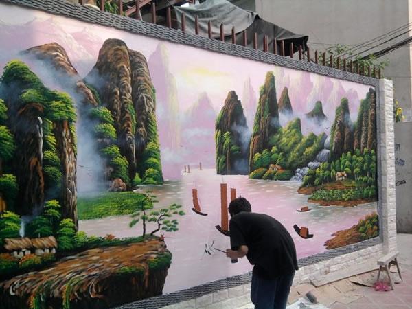 Vẽ tranh tường 3D tại Hà Tĩnh